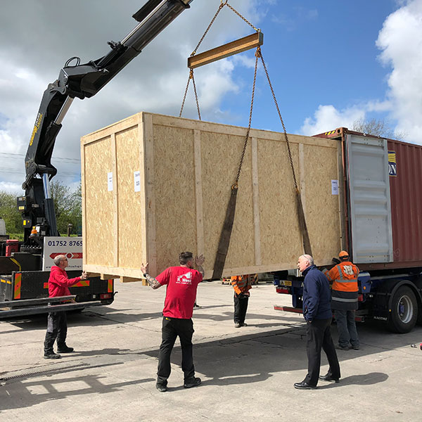 export packaging services and products - packing cases, packing crates, wooden pallets - R. West & Son