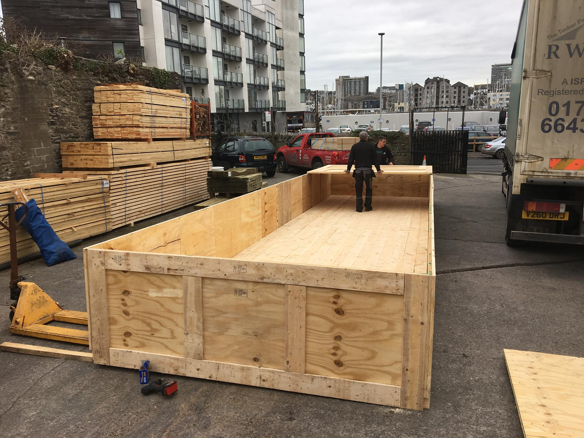 about us - who we are - images of our timber packaging solutions work - R.West & Son