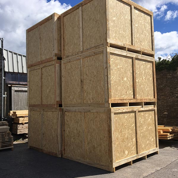 packing cases and packing crates designed and manufactured by R. West & Son